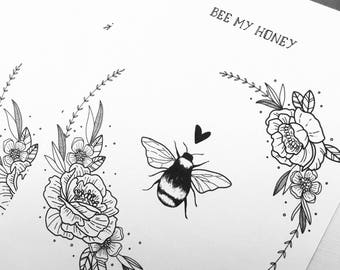 Bee My Honey Anniversary / Valentine's Day Card