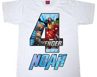 avengers birthday shirt bot or girl shirt
