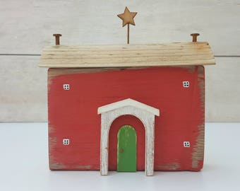 Handmade driftwood cottage, driftwood gift.