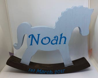 Personalised Rocking Horse new baby present