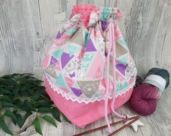 Knitting bag / spider bag (large) - 10.