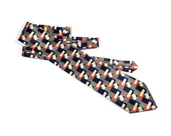 Vintage Parksder hand made silk necktie, Parksder tie, Silk necktie, Vintage necktie, Collectible necktie, Handmade necktie