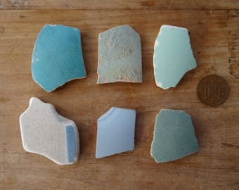 BLUE SEA POTTERY ~ Sea Tumbled Treasures ~ Jewellery Making Supplies ~ Creative Project Supplies ~ Mosaic Tiles ~ Lucky Charms