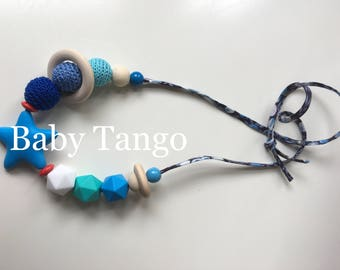 Breastfeeding necklace*Nursing Necklace* crocheted necklace* baby teething necklace*feeding necklace
