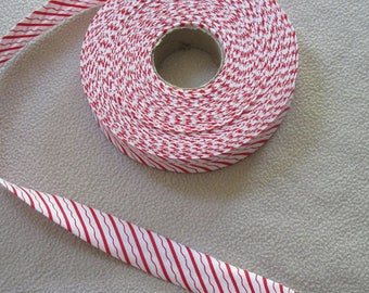 THROUGH red and white 2cm wide