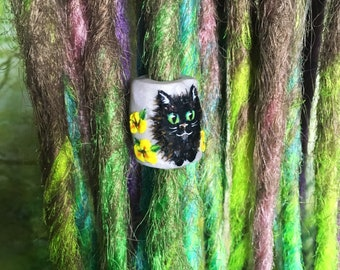 Cats and Crystals Dreadlock Bead
