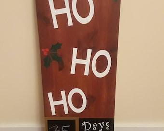 Countdown to Christmas sign