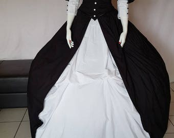 Aristocratic crinoline dress