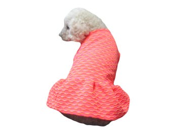Orange, Hot Pink and Yellow Neon Colors Dog Dress Dog Clothing Dog Apparel, Made in USA for Small Dogs Only