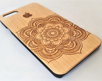 Real Wood iPhone Case / Wooden iPhone case / Laser Engrave Phone Case / Wooden iPhone 7 Case / Wooden iPhone 6 Case / Natural Wood / iPhone