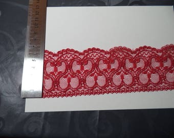 1 m 60 red lace with superb quality new width 6 cm