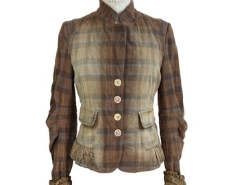 Marithe Francois Girbaud Vintage Brown Cotton Jacket