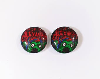 The 'Asking Alexandria' Glass Earring Studs