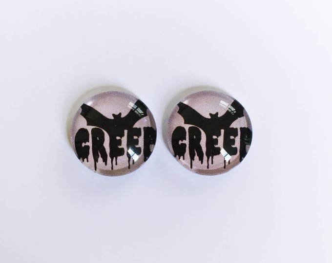 The 'Creep' Glass Earring Studs