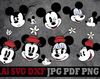 Minnie Mouse svg, Minnie Mouse clipart, Disney svg files, Disney clipart, digital files svg dxf png Ai pdf svg files for cricut