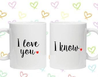 I love you i know mug set Valentine's Day gift idea