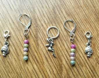 Fairy Garden stitch marker set