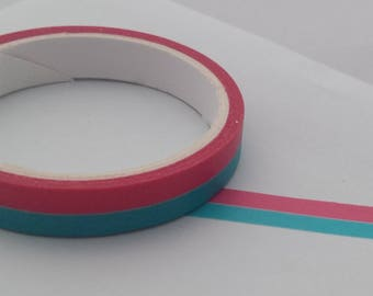 Blue and Pink Stripe Washi Tape