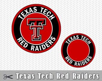 SVG PNG Texas Tech Red Raiders Logo Layered Vector Cut File Silhouette Studio Cameo Cricut Design Template Stencil Vinyl Decal Transfer Iron