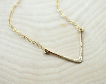 14K Gold-Fill Chevron Layering Necklace