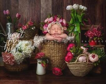 """Newborn digital backdrop. """"Flower market""""  Instant download digital background. Hires jpg file"""
