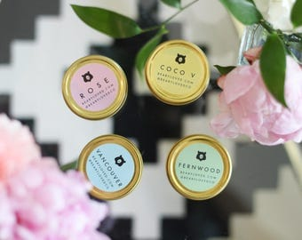 Soy Candle Travel Pack - Candle Scent Sample Pack - Scent Pack - Gift Set - Bridesmaid Gifts - Shower Gifts - Vegan Housewarming Gifts