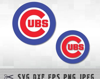 Chicago Cubs SVG PNG Logo Layered Vector Cut File Silhouette Studio Cameo Cricut Design Template Stencil Vinyl Decal Heat Transfer Iron on