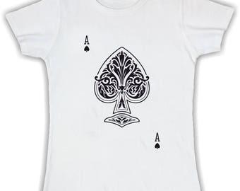 Women's Basic t shirt ACE of Spades