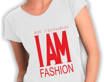 Women's v neck t shirt I'm fashion