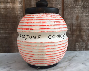 Vintage Mccoy Fortune Cookie Cookie Jar // Mccoy Pottery Canister // 1950-1960's