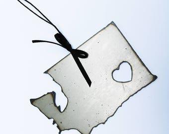 Rustic Metal Washington Ornament