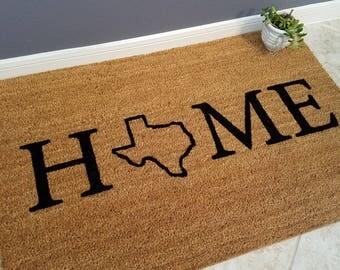 Personalized Doormat / Door Mats / Welcome Mat / Custom Doormat / Texas  Decor / Gift