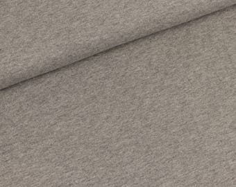 Cotton Jersey Gitte uni grey flecked (16,50 EUR / meter)