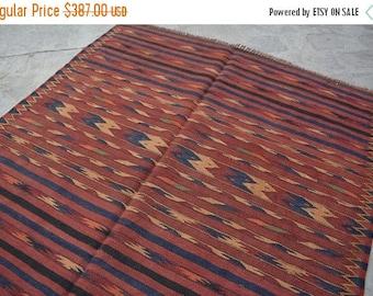 Big sale 6'2 x 3'8 FT Wool Handmade Turkoman Kilim, Baluch kelim, Baluch rug, Persian rug, Persian kelim rug