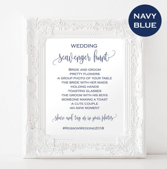 Wedding Scavenger Hunt Printable