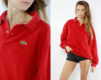 Lacoste Jumper / Lacoste Sweater / Lacoste Sweatshirt / Lacoste Long Sleeve / Lacoste Polo Shirt / 90s Lacoste / Vintage Lacoste / Lacoste