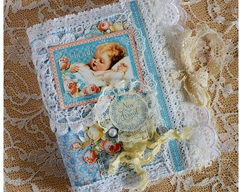 Album handmade for the newborn, baby shower