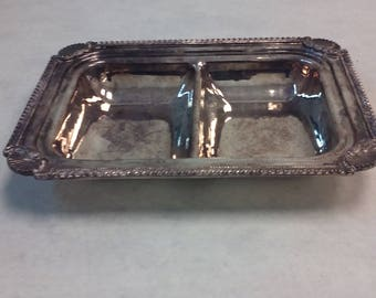 Sheffield Repo Silver Plated Double Sided Tray