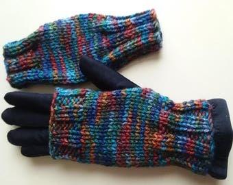 Fingerless gloves, wrists and hands warmer, ideal gift for teacher, neighbor, coworker, family, friend.