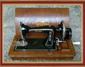 Rare | Willegen | Antique Sewing Machine | Holland 1930s | Antike Nähmaschine | Maquina de Coser | Machine à Coudre | FREE Shipping*