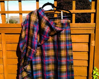 Vintage Tartan skirt, Lady Borrowdale's gift. Size 18