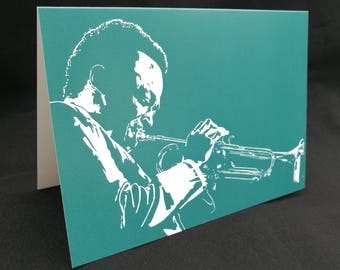 Miles Davis Greeting Card
