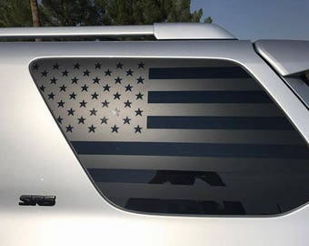 Two - American Flag Decals - 5th Gen Toyota 4Runner 4 Runner Offroad Merica Banners Vinyl Stickers Custom Accessories Design Yota Flags USA
