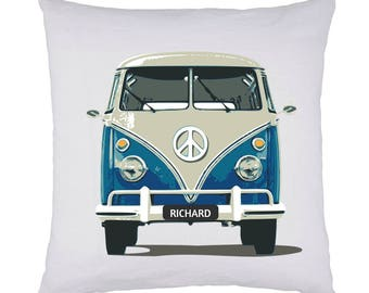 Personalised Campervan Cushion - Handmade 35 x 35cm Gifts, Inspired By VW