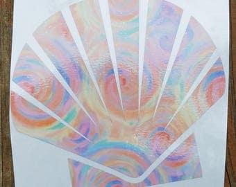 Seashell Vinyl Decal