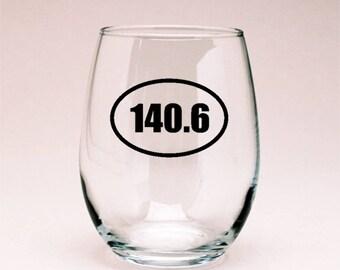140.6 IronMan Wine Glass, Runner Gift
