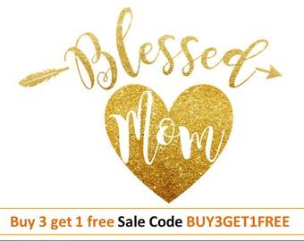 Blessed svg Thanksgiving svg design Blessed mama svg Mom svg Heart Svg DXF PNG Thanksgiving cut file for Silhouette Vinyl files for cricut