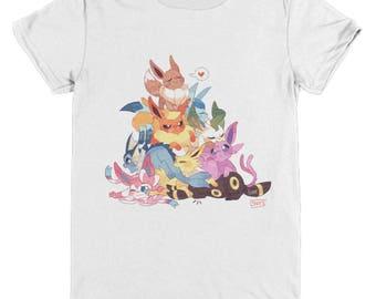 EEVEE EVOLUTIONS POKEMON Youth/Child Tshirt Glaceon, Sylveon, Eevee, Flareon, Jolteon, Espeon Umbreon Vaporeon Pokemon Leafeon Wearable Tee!