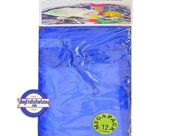 """Sheer Organza PARTY Bag-its, 12 pcs 4 1/2"""" x 7"""", Royal Blue  +FREE SHIPPING + Discounts*"""