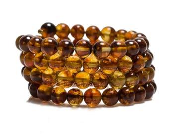baltic amber bracelet 29gr cognac color Luxamber 琥珀手链